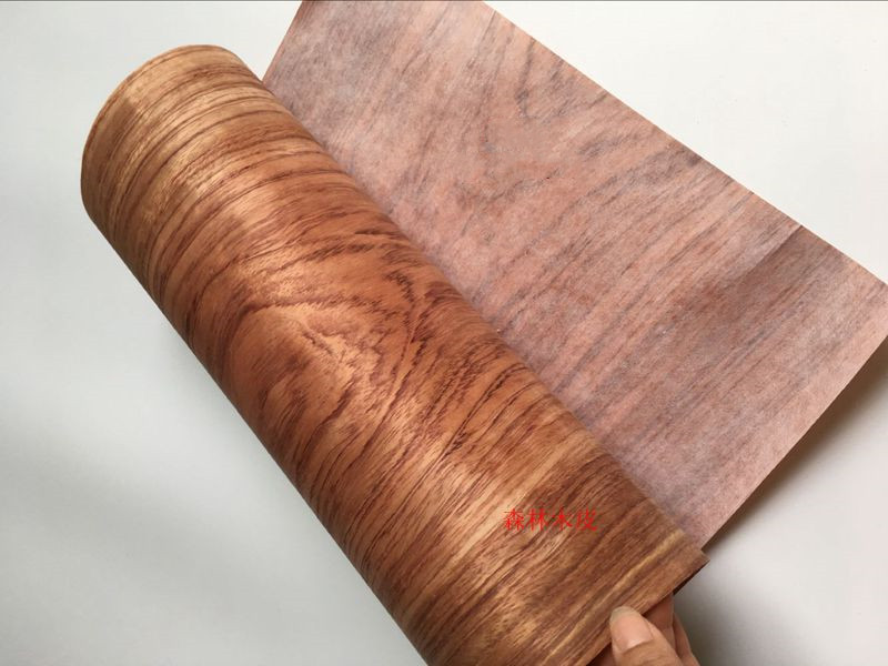 2x Natural Brazilian Rosewood Veneer Sliced Wood Furniture Veneer 0.2mm Thick C/C