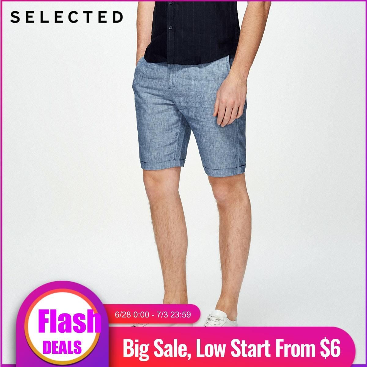 SELECTED  Linen Turn-up Washed Leisure Shorts S|4182SH520