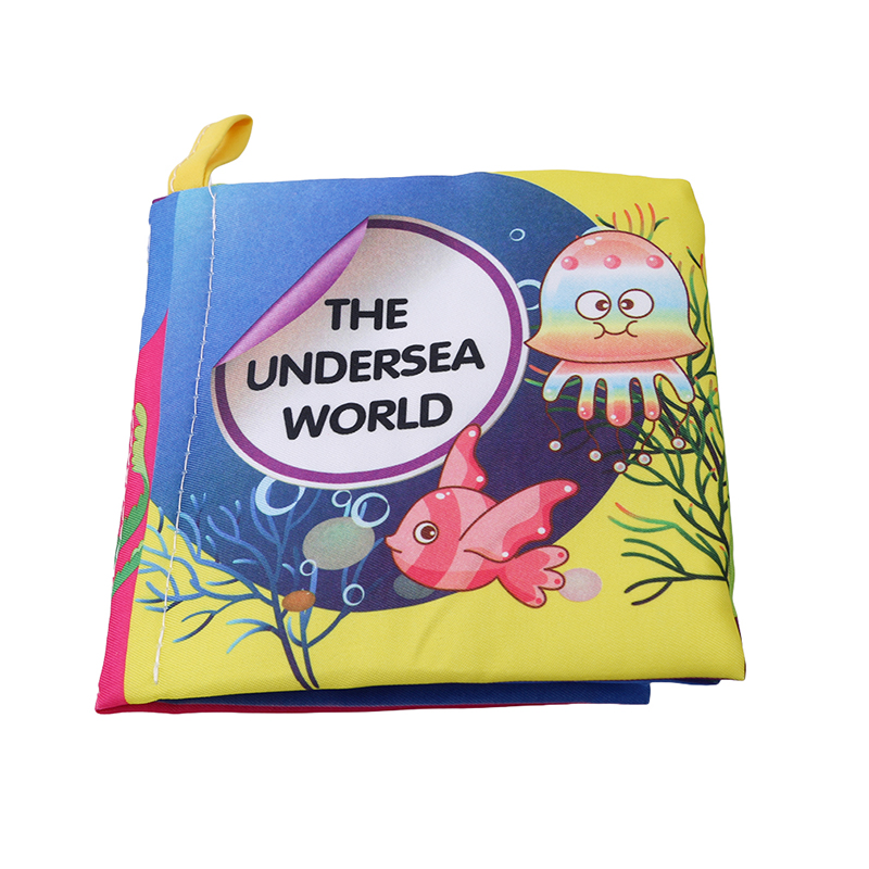 Baby Toys 0-12 Months Intelligence Development Cloth Book Cute Animals Soft Rattles Unfolding Activity Books Kids Toys
