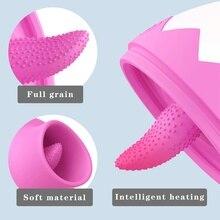 7 Mode Vibrator Clitoris Licking Stimulator Tongue Nipple Sucker Breast Enlarge Massager Sex Toys Masturbator for Women