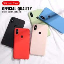 цена на Original Liquid Silicone Phone Case For XiaoMi RedMi K20 8A 7A 5A 4X S2 5 Plus Soft Back Cover For RedMi Note 4X 8 7 6 5 Pro