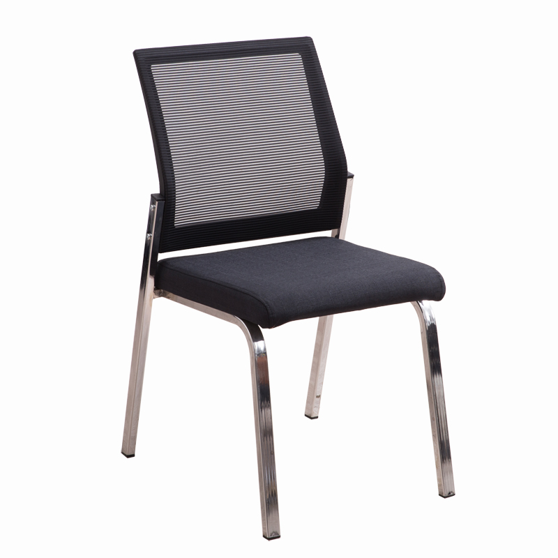 Four-legged Mesh Office Chair Training Chair Modern Minimalist Superimposed Without Armrest Meeting Reception Table And Chairs E