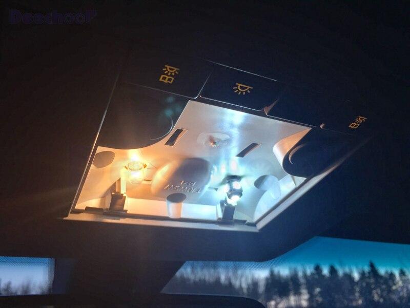 11 шт. Автомобильный светодиодный светильник для VW Scirocco, белый внутренний светильник для Volkswagen Scirocco, купольный светильник