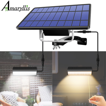 Upgraded Solar Pendant Lights Outdoor Indoor Auto On Off Solar Lamp for Barn Room Balcony Chicken With Pull Switch And 3m Line 1