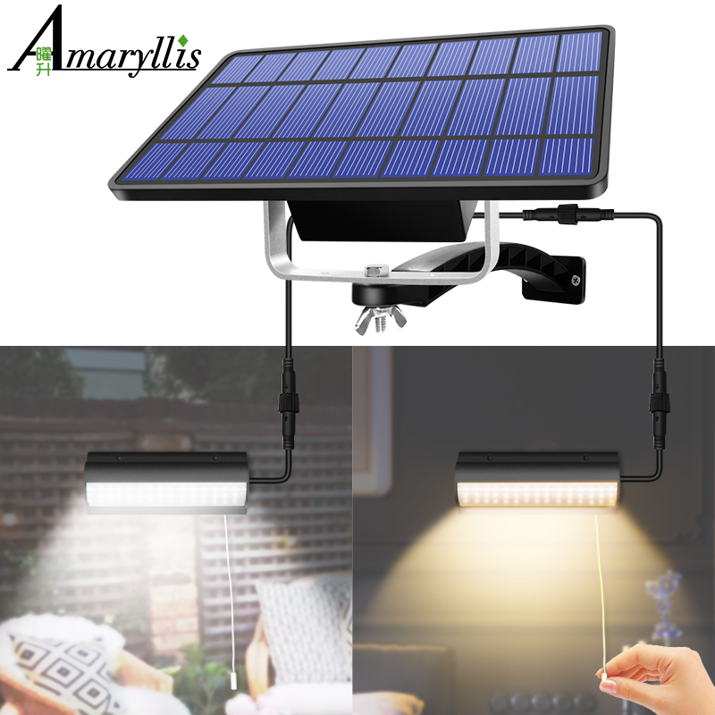 Upgraded Solar Pendant Lights Outdoor Indoor Auto On Off Solar Lamp for Barn Room Balcony Chicken With Pull Switch And 3m Line|Solar Lamps|   - AliExpress