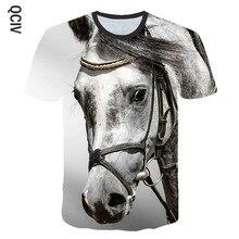 3 a 14 crianças t camisa o cavalo de corrida 3d impressão camiseta meninos meninas de manga curta camiseta cavalo animal t camisas crianças roupas