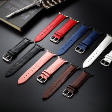 цена на Quality Genuine Cow leather Watchband Strap For Apple Watch Band Bracelet 38mm 42mm Series 1 2 3 For iWatch New SALE
