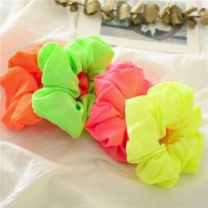 Яркие цветные резинки для волос для девочек, эластичные резинки для волос, Женское кольцо для волос, модный конский хвостик, держатель для в...