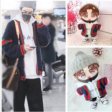 20cm roupas substituíveis boneca chapéu camisola branca calças pretas sean xiao xiao zhan boneca roupas crianças presentes de natal