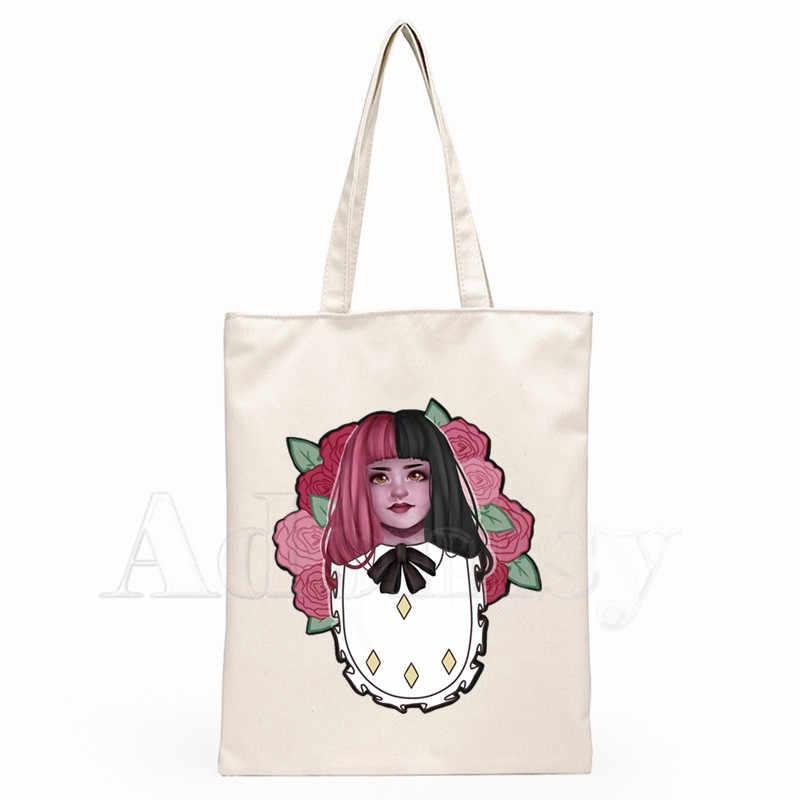 Melanie Martinez Dames Handtassen Doek Canvas Draagtas Winkelen Reizen Vrouwen Eco Herbruikbare Schouder Shopper Tassen Bolsas De Tela