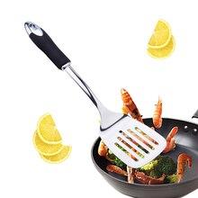 Łopatka kuchenna szpatułka z otworami kuchnia nieszczelna łopata długa rączka kuchnia rzeczy wielofunkcyjne narzędzia do grillowania ze stali nierdzewnej