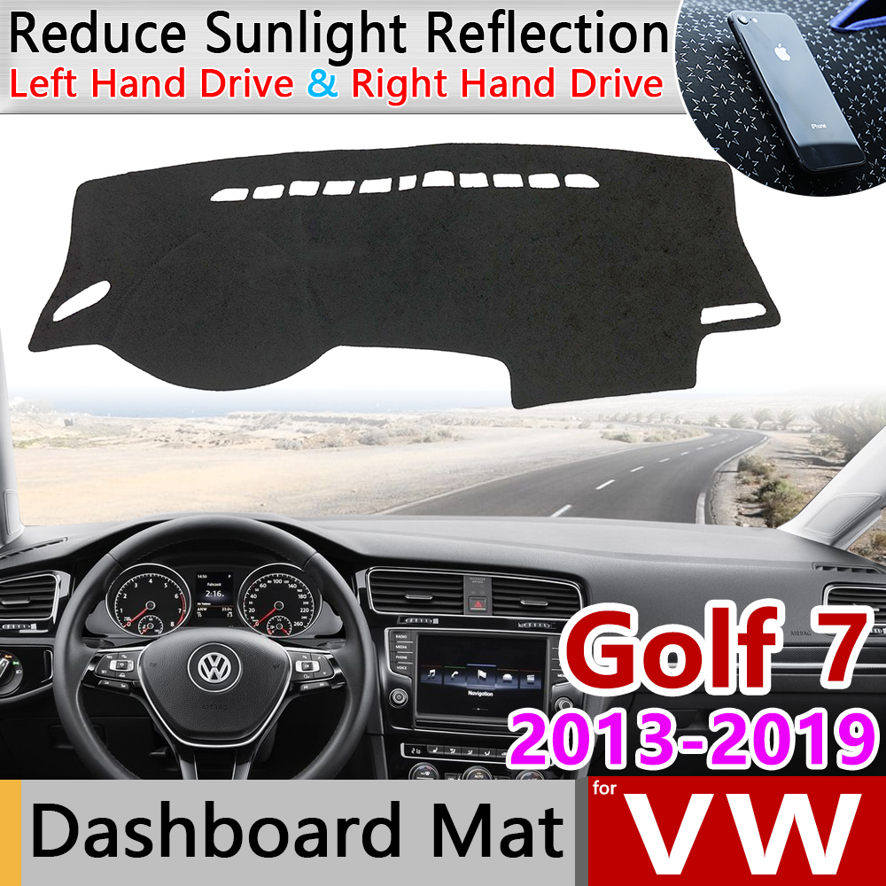 For Volkswagen VW Golf 7 MK7 2013~2019 Anti-Slip Mat Dashboard Cover Pad SunShade Dashmat Carpet Car Accessories 2015 2016 2018