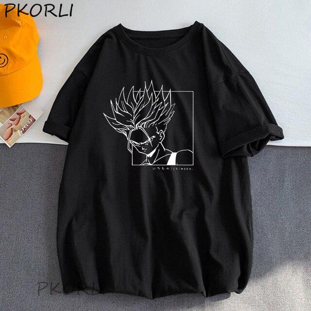 Harajuku Dragonball Z Super Sayan T Shirt Women Men Summer Cotton Japanese Anime T-Shirt Woman Men Tee Shirt Femme Managa Tops 1