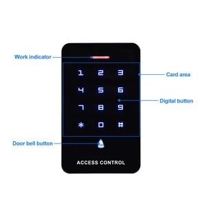 Image 4 - OBO מגע לוח בקרת גישה לוח מקשים RFID קורא מקלדת גישה בקר WG26 דלת פעמון כפתור + 10pcs EM4100 Keyfobs תגים