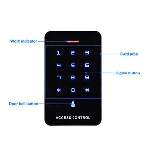 Image 4 - OboタッチパネルアクセスコントロールキーパッドrfidリーダキーボードアクセスコントローラWG26 ドアベルボタン + 10 個EM4100 キーフォブタグ