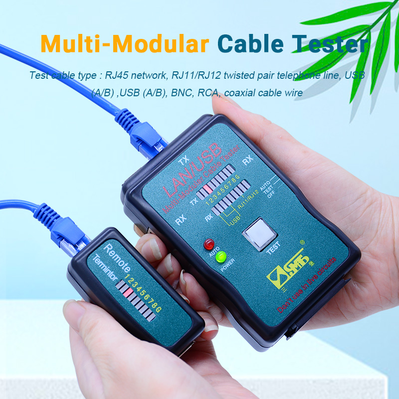USB LAN Cable Tester CT-168 Network Finder Rj45 Rj11 Bnc Network Tools With AC Voltage Pen