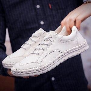 Image 5 - ชายรองเท้าหนังผู้ชายหรูหรายี่ห้อ Design Handmade Loafers ผู้ชายรองเท้าหนังแท้รองเท้าหนังแท้คัทชูรองเท้าผ้าใบ Oxford