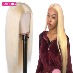 Image 5 - 613 Blonde Deep Middle Part Lace Front Wigs 13*1 Peruvian Remy Lace Frontal Wigs Human Hair Straight Peruque For Female