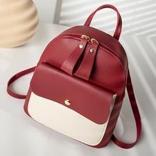 Mini Backpack Women PU…