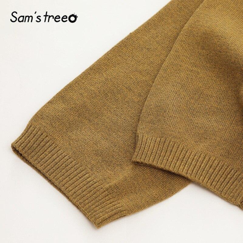 Image 4 - SAMS TREE Solid Turtleneck Minimalist Style Pullover Sweater Women 2019 Autumn Full Sleeve Knitted Casual Office Ladies TopsPullovers   -
