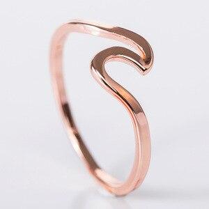 Mossovy Волнистые Серебряные Кольца из сплава, очаровательное кольцо из розового золота, минималистичные ювелирные изделия, свадебные кольца для женщин, Bague Femme Anillos Mujer