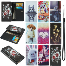 For S-TELL M655 Santin LZ6 Samsung Galaxy A6 plus A6s A7 2018 A8 Star Painted Wallet Style With Card Slot Cover Bag Phone Case