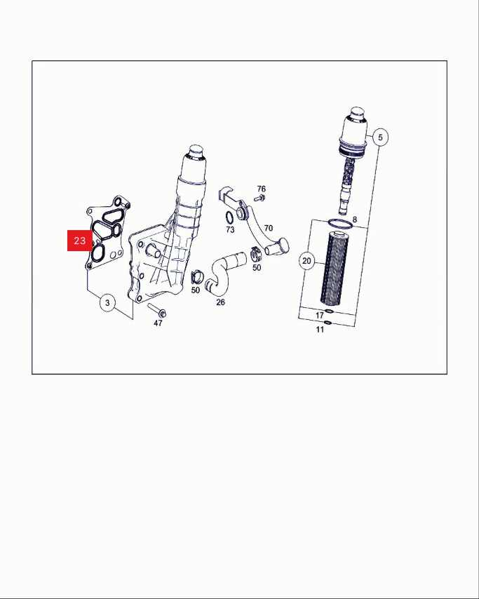 Para Mercedes M271 W204 C180 C200 E200 SLK junta de la carcasa del filtro de aceite/Kits de junta del radiador enfriador de aceite OE: 2711840280