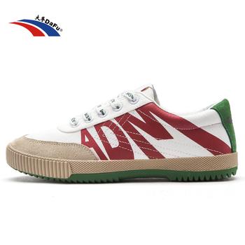 Buty Dafu X_ADM trampki klasyczne buty sztuki walki Taichi Taekwondo Wushu Kungfu miękkie wygodne adidasy mężczyźni kobiety buty tanie i dobre opinie Unisex CN (pochodzenie) RUBBER Lace-up Pasuje prawda na wymiar weź swój normalny rozmiar Spring2016 Płótno Classics