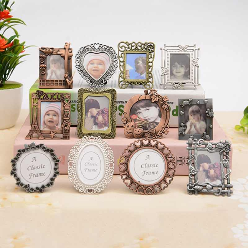 Europe MINI Retro Photo Frame European Style Decorative DIY Metal Ally Painting Frame Pendant Home Decor Parts Picture Frames