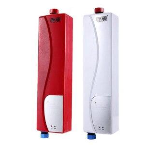 Image 1 - Anında elektrikli Mini haznesiz su ısıtıcı sıcak ani su isıtıcı sistemi için mutfak banyo duş 220V 3000W ab tak