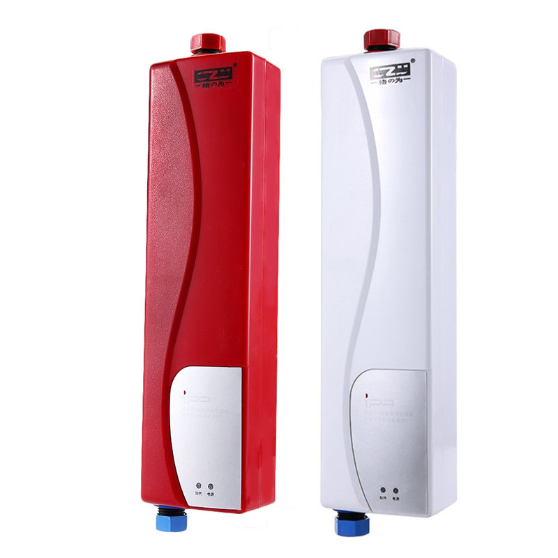 Instant Electric Mini Tankless Water Heater Hot Instantaneous Water Heater System For Kitchen Bathroom Shower 220V 3000W EU Plug