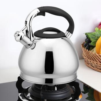 3L czajnik ze stali nierdzewnej brzmiące dużej pojemności gwizdek gazu kuchenka indukcyjna czajnik czajnik metalowy czajnik do herbaty obóz kuchnia tanie i dobre opinie waasoscon CN (pochodzenie) STAINLESS STEEL Ekologiczne CE UE EA11193