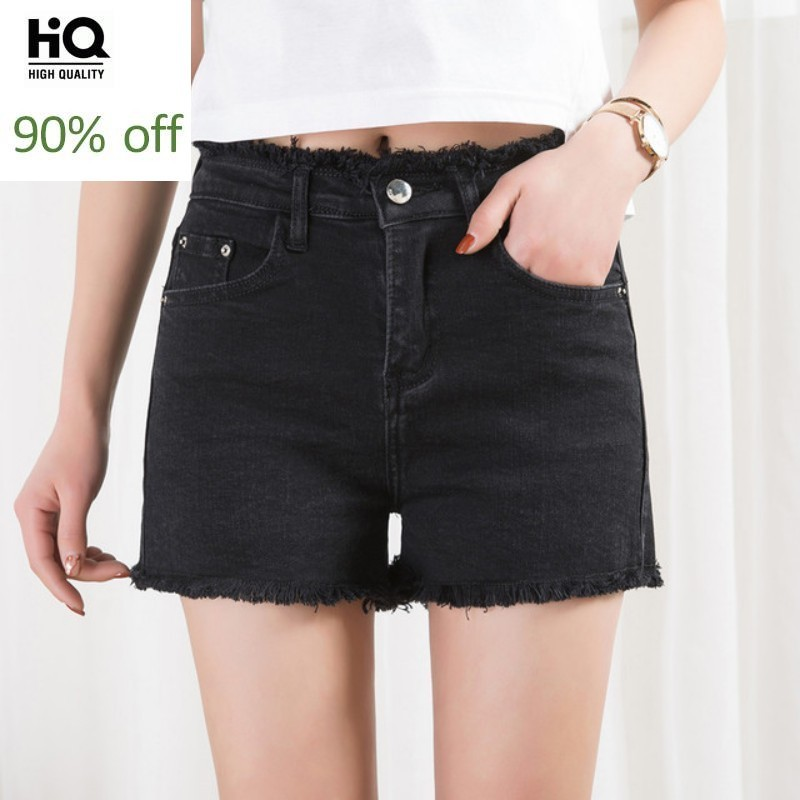 Women Denim Shorts High Waist Black Loose Sexy Ladies Jean Shorts Tassel Fashion Summer Hot Shorts Female Korean Clothing 2020