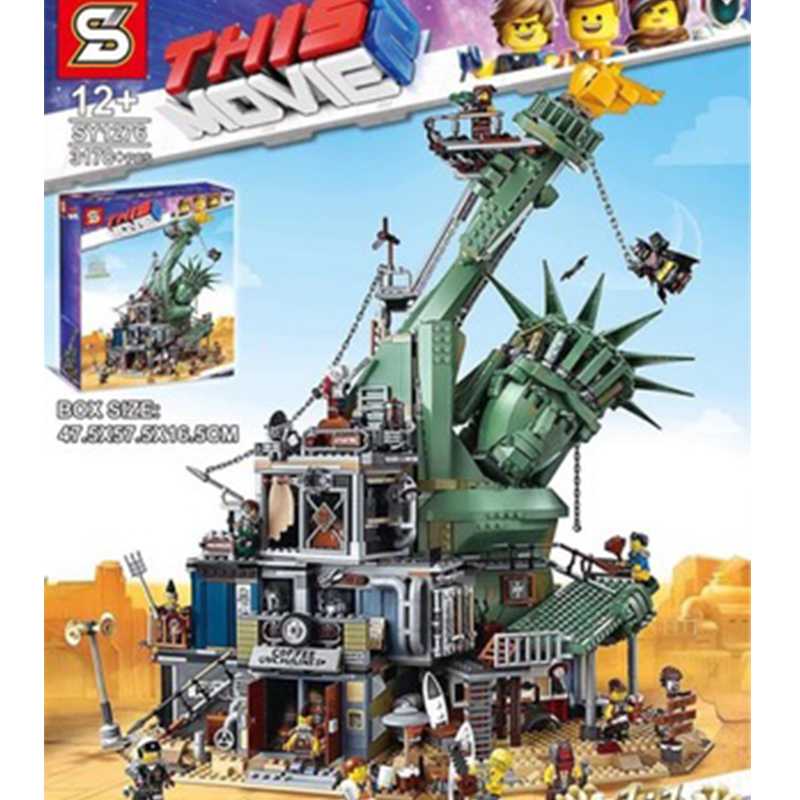 45014 Legoinglys Movie series Welcome to Apocalypseburg <font><b>70840</b></font> Model Building Kit Blocks Bricks Assembly Kids Toys Gifts image
