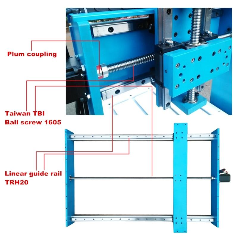 CNC Router Graveur/Gravur Bohren und Fräsen Maschine LY CNC 6090L-2,2 KW Linearführungsschiene