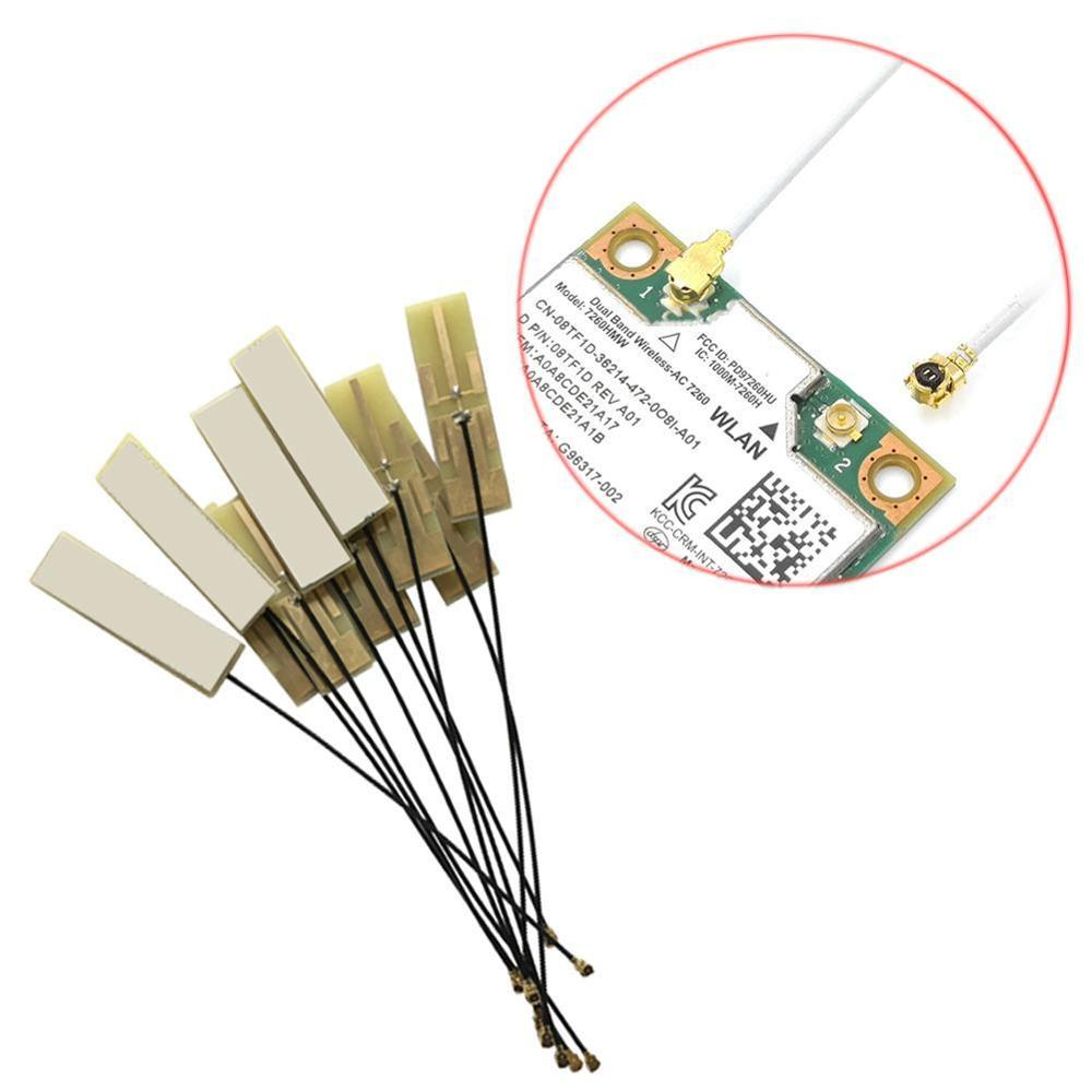 2pcs Mini PCI-E Wifi Internal Antenna Universal Laptop Wifi Bluetooth Yellow Film Antenna For Wireless Network Card Tablet