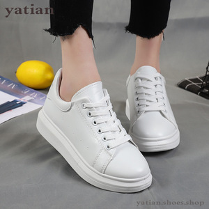 Image 4 - New Designer Shoes Woman Wedges Platform Sneakers Lace Up Breathable Casual Chunky  Ladies White  C0 91