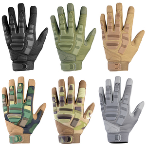 Image 3 - Tactical Army Military Gloves Paintball Airsoft Shot Soldier Combat Police SWAT Anti Skid Bicycle Full Finger Glove Men Women