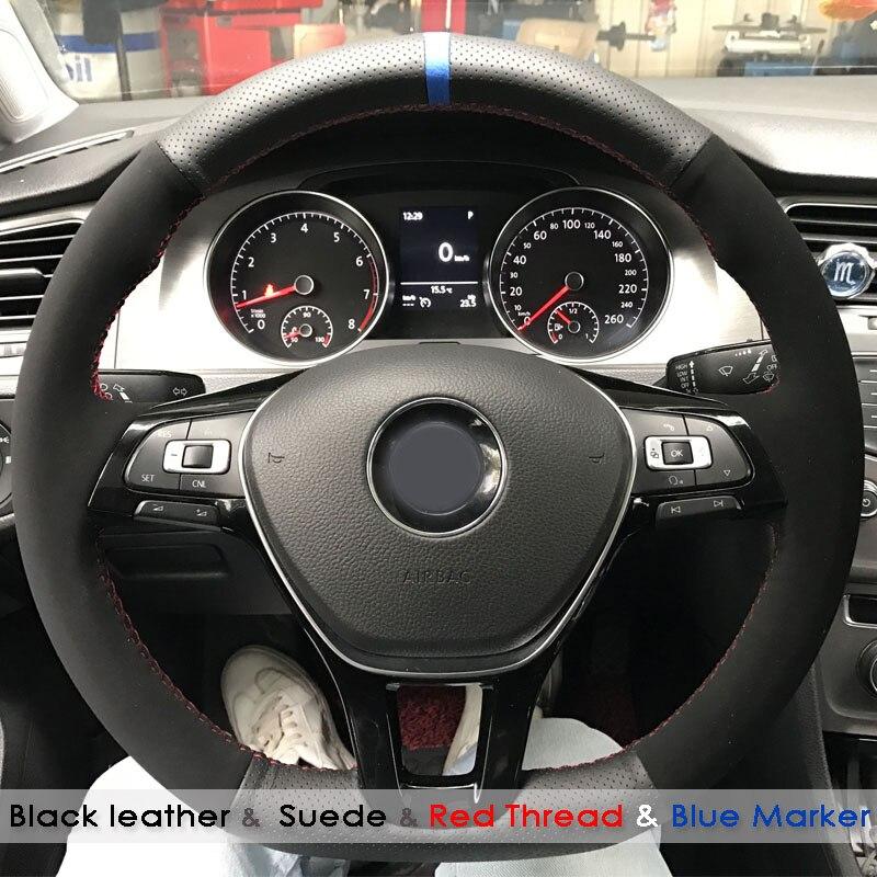 Wood Effect /& Black Luxury Steering Wheel Cover VW Volkswagen Sharan