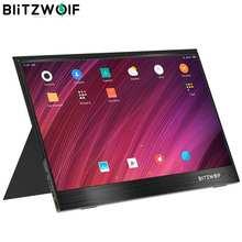 Blitzwolf tela de toque para smartphone e laptop, monitor portátil fhd BW-PCM3 15.6 p tipo c, Polegada 1080 touchable, monitor de computador portátil, tela de jogo para smartphone e notebook