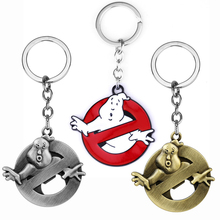 Ghostbusters Keychain Funny Face Red Enamel Metal Key Chain Movie Key Buckles Jewelry For men women Chaveiros Friends gift newest movie jewelry game of thrones key chain house stark targaryen keychain keyrings gift jewelry