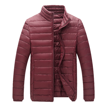 2020 Winter Down Jacket Men #8217 s Warm Thick Coats Men Light Weight Fashion Casual Outwear Male Brand Clothing J6T802 tanie i dobre opinie COTTON REGULAR STANDARD SA802 Suknem zipper NONE Poliester Stałe Krótki 0 5kg Na co dzień Stojak Warm Breathable Comfortab
