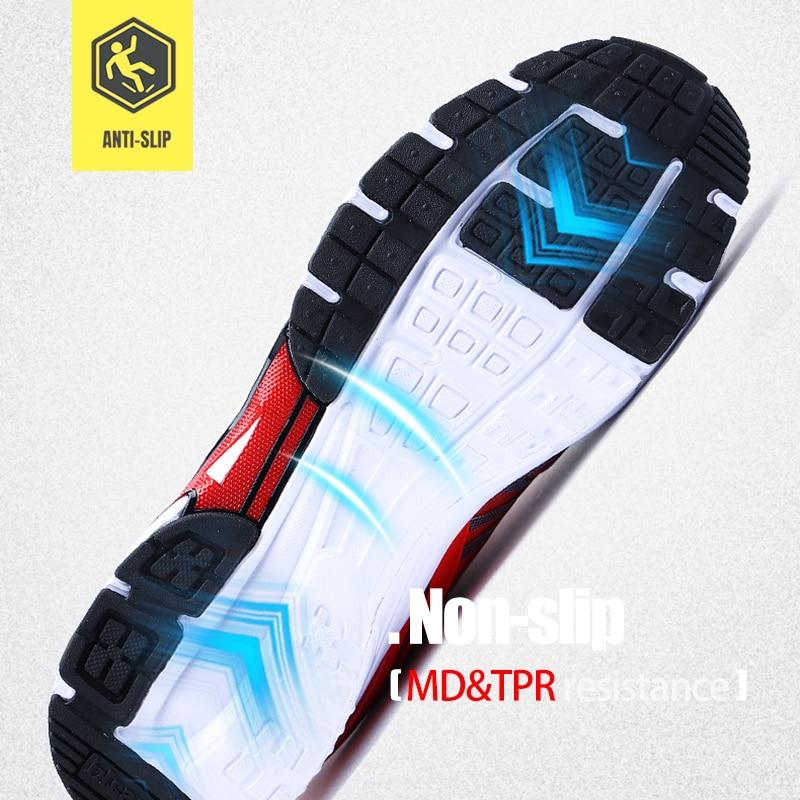 LARNMERN chaussures de travail de sécurité en acier pour hommes, légères et respirantes, chaussures de protection antidérapantes pour la Construction - 4