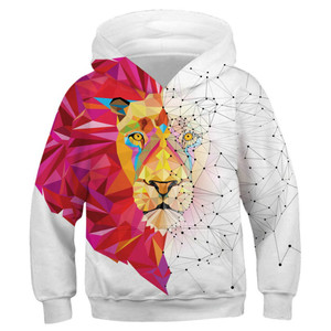 Image 3 - Wolf 3D Print Boys Girls Hoodies Teens Spring Autumn Outerwear Kids Hooded Sweatshirt Clothes Children Long Sleeve Pullover Tops