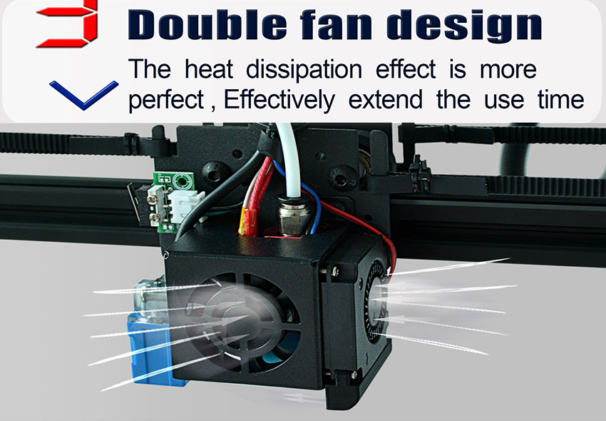 Tronxy New Upgraded X5SA 3D Printer With Double Fan Design