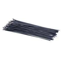 Stainless Steel Cable Ties Locking Metal Zip-Exhaust Wrap Coated Multi-Purpose Locking Cable Ties 100pcs 4.6x100/150/200/400mm 100pcs white self locking cable tie high quality nylon fasten zip wire wrap strap 2 5x100mm 2 5x150mm plastic