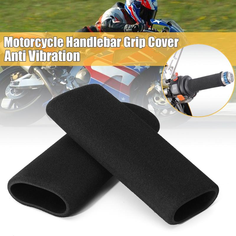 2 Pcs Motorbike Motorcycle Slip Grip Covers On Foam Anti Vibration Comfort Handlebar Grip Cover Set Accessories