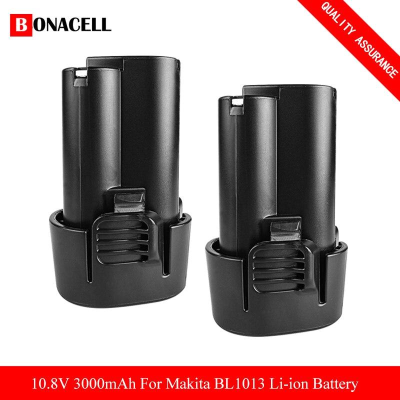 Bonacell 3000Mah 10.8V Li-Ion Batterij Voor Makita BL1013 BL1014 Bl 1013 Bl 1014 LCT203W 194550-6 194551-4 195332-9 DF030D