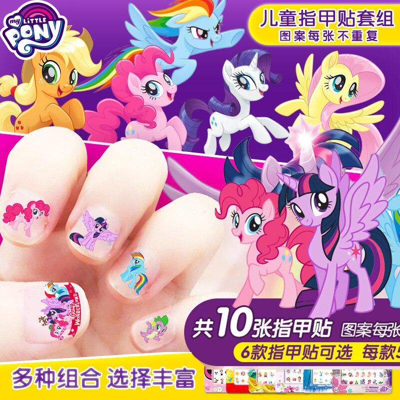 5 pçs meus pequenos pônei adesivos brinquedos pvc pônei adesivo pacote menina prego adesivos 3d rainbow traço crepúsculo faísca brinquedos para meninas