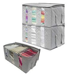 3 sztuk torby do przechowywania ubrań grube składany Organizer pojemniki do przechowywania na ubrania K4UA